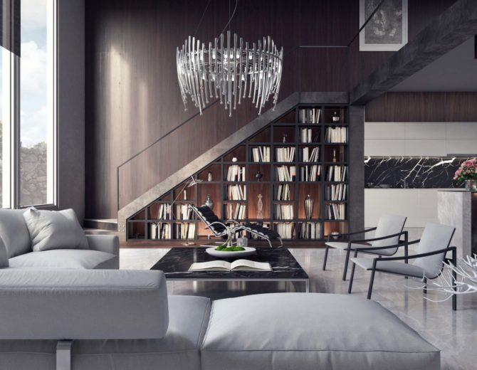 Living room, interior design